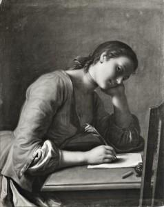 donna che scrive lettera