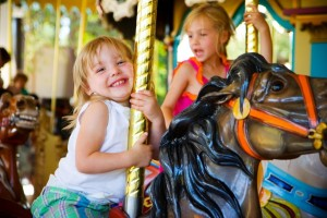 girl on a merry go round