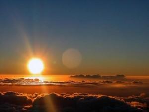 tramonto da aereo