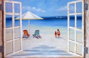 spiaggia da finestra